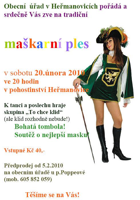 Maškarní ples v Heřmanovicích