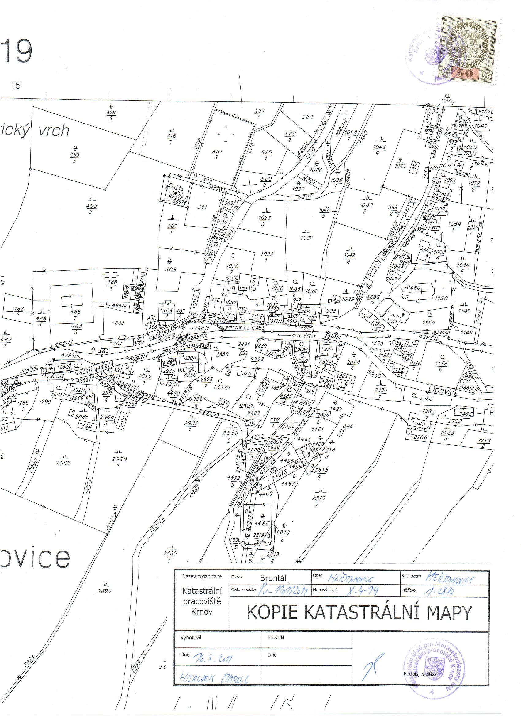 F. Doklady - 01. Snímek katastrální mapy 1