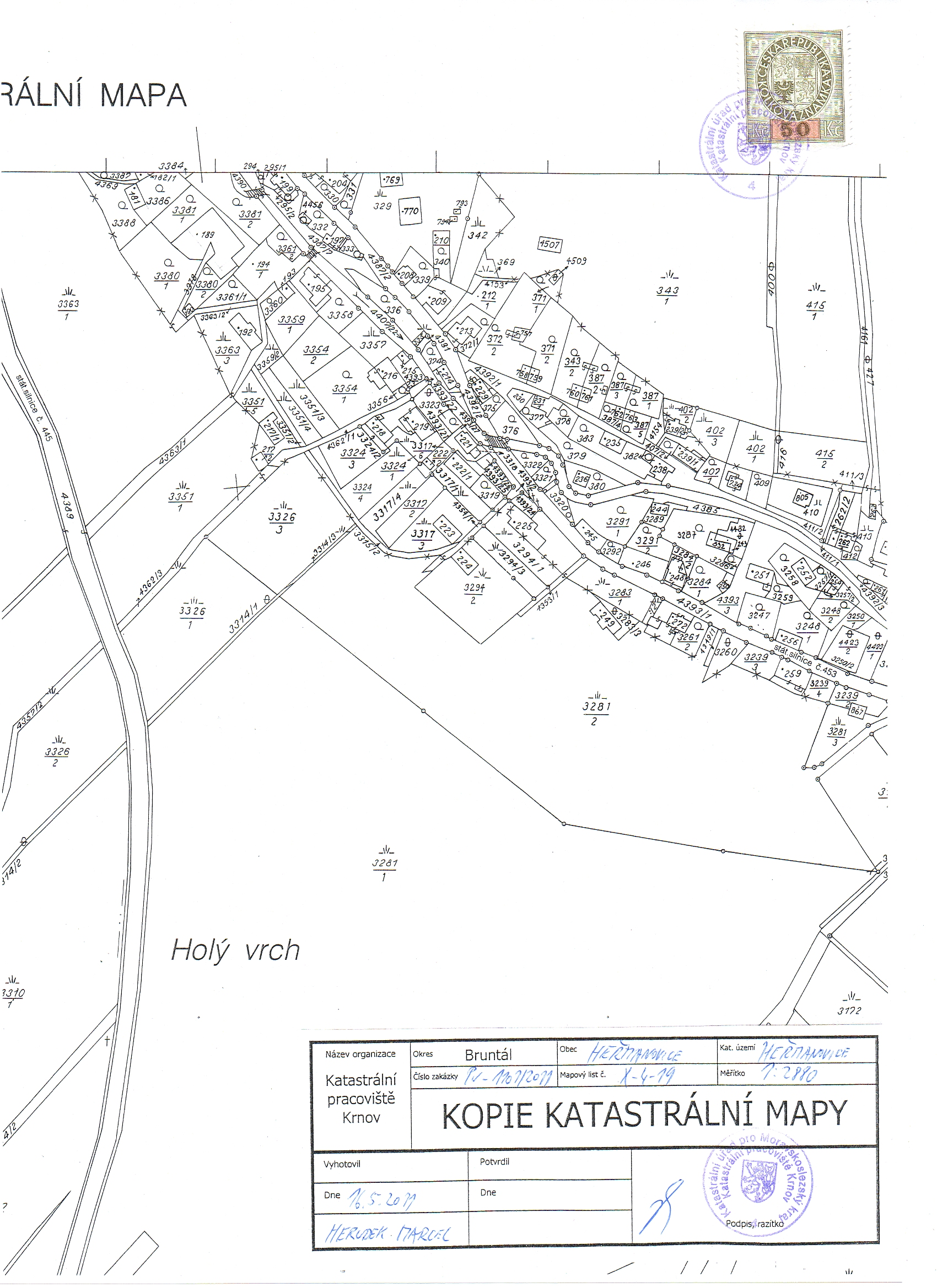 F. Doklady - 01. Snímek katastrální mapy 2