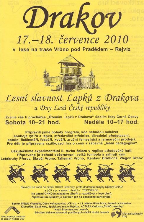 Lesní slavnost Lapků z Drakova a Dny Lesů České republiky, 17 - 18.  července 2010