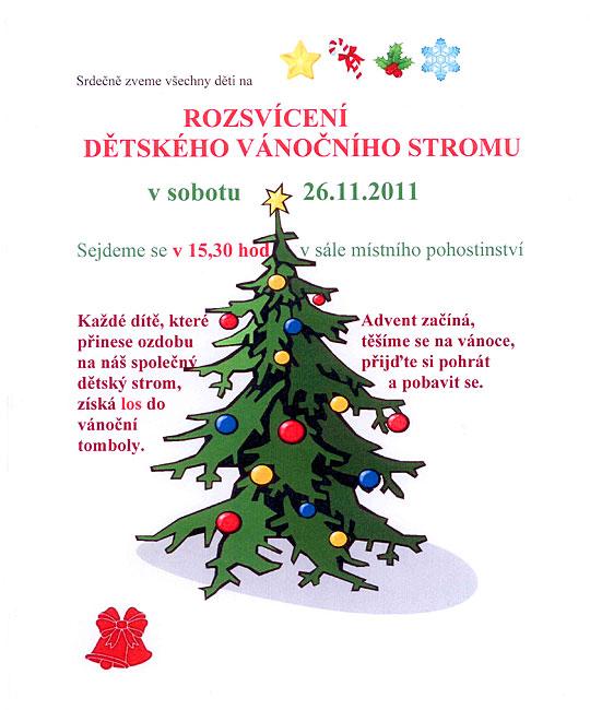 Rozsvícení dětského vánočního stromu